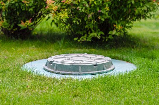cesspool on the backyard
