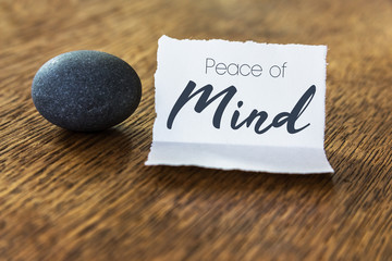 Peace of Mind Concept Wall mural