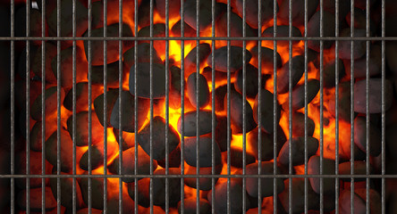 Charcoal Fire And Grid Wall mural