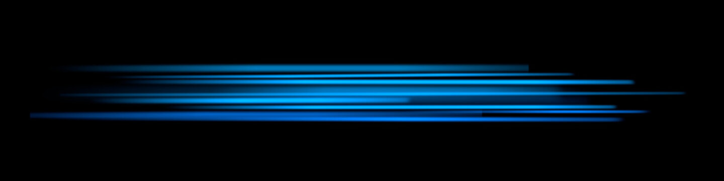 Dynamic blue glowing lines on a black background