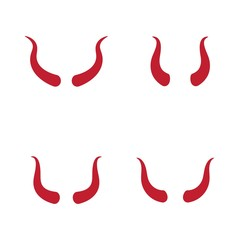 Devil horn Vector icon design