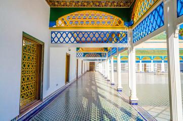Courtyard at El Bahia Palace, Marrakech, Morocco Wall mural