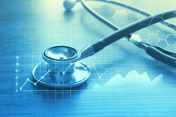 Medical examination and healthcare service concept