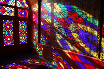 Farbenspiel, Nasir al Molk-Moschee, Shiraz, Iran