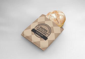 Flat Bakery Bag Mockup