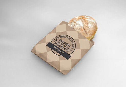Flat Bakery Bag Mockup