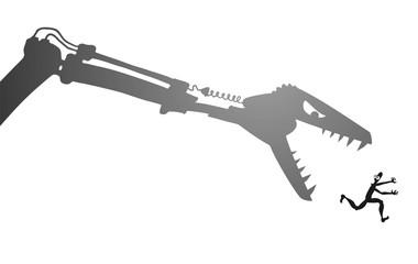 Design of danger t rex robot