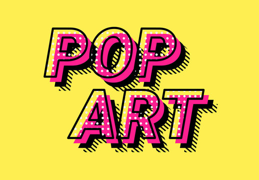 Retro Pop Art Text Effect