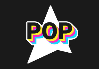 Dark Pop Art Style Text Effect