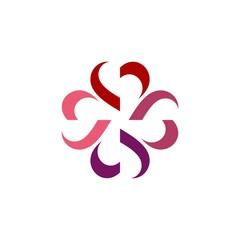 heart flower logo Illustration Design. Vector EPS 10.