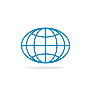 Oval Globe Logo Template Illustration Design. Vector EPS 10.