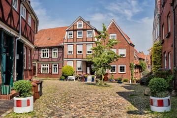 Fototapete - altstadt von stade in deutschland