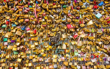 Lotsa Love Locks at Pont Neuf