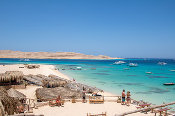 the beach of giftun island Fototapete