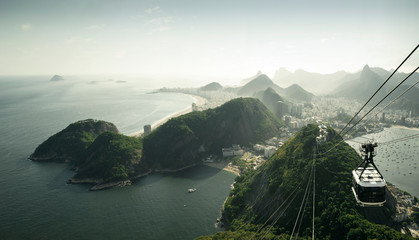 Wall Mural - View on Rio de Janeiro from Sugarloaf mountain, Brazil