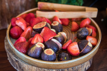 Fresh Strawberries and Figs