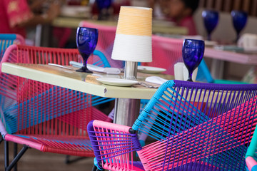 Dining Table setting at Hotel Xcaret, Mexico