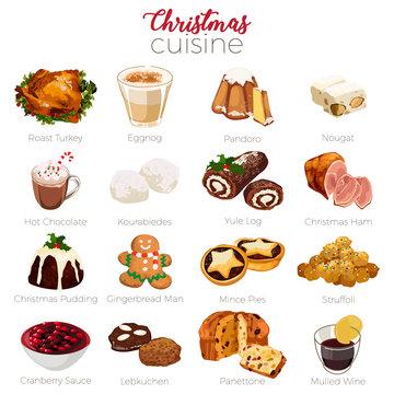 Christmas Cuisine Holiday Season Illustration