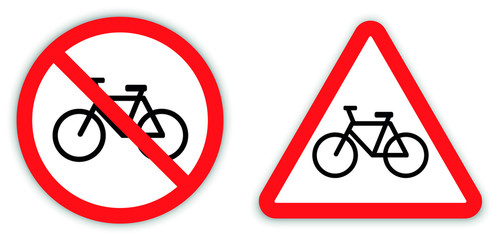 cycle allow or not vector icon