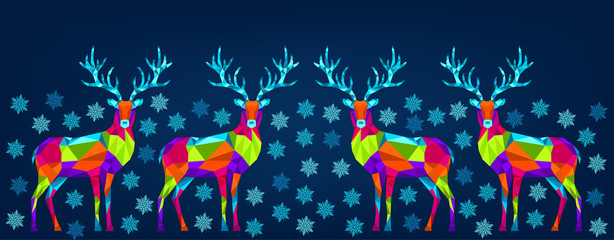 Fotomurales -  Bright colorful Christmas and New Year decoration on blue background.