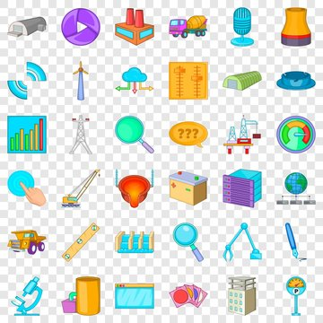 Businessman cons set. Cartoon style of 36 businessman vector icons for web for any design