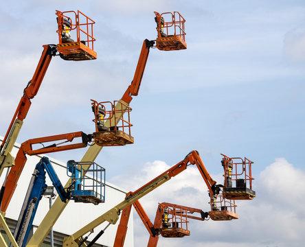 Mobile aerial work platforms