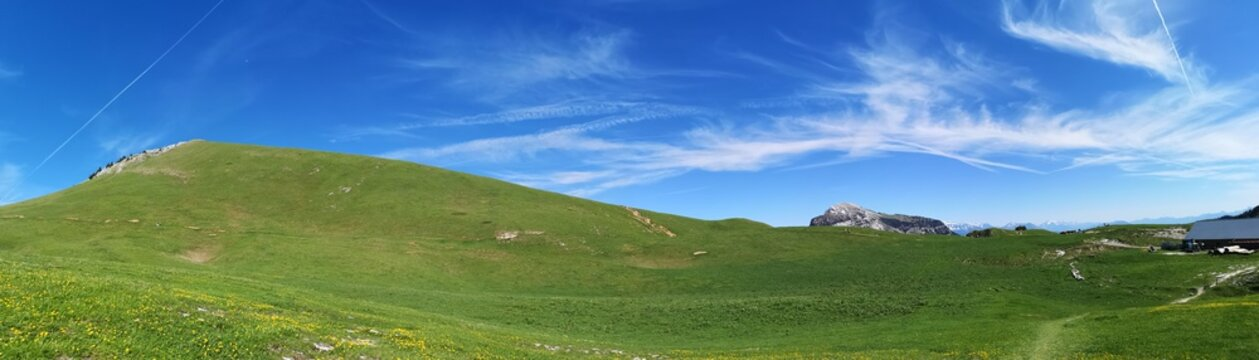 panorama - alpage du charmant som en chartreuse
