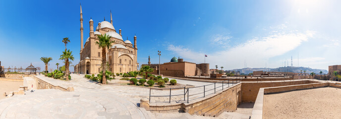 Cairo Citadel panorama, beautiful day view, Egypt