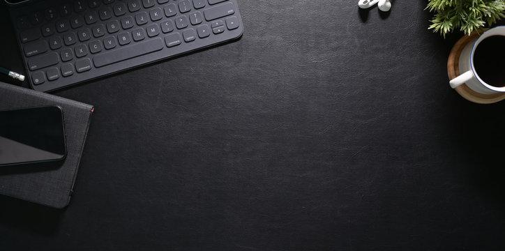 Stylish workspace with laptop