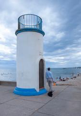 Wall Murals Dog Cape d'Agde Languedoc France Lighthouse