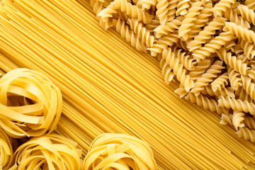 pasta on background. Top view. - Image .