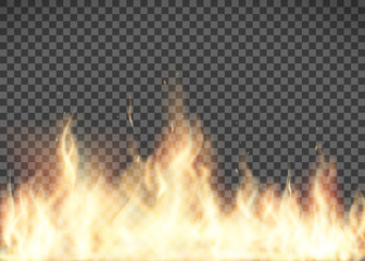Flame texture. Fire isolated on transparent background.