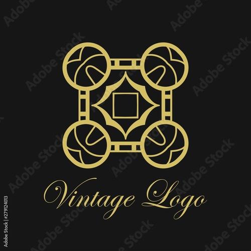 Vector Ornament Logo Design Template Luxury Vintage Modern