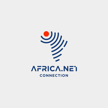 africa signal logo design vector internet wifi symbol icon