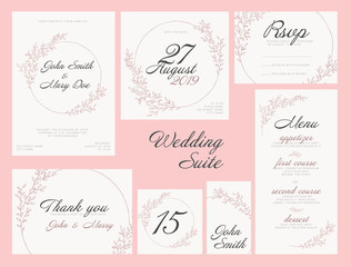 Wedding suite collection card templates