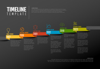Timeline template with icons