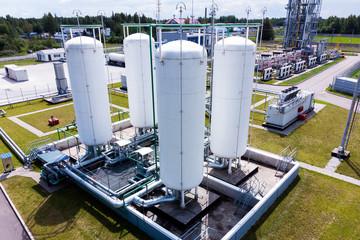 Aerial view of Liquid chemical tank terminal, Storage of liquid chemical and petrochemical products Wall mural