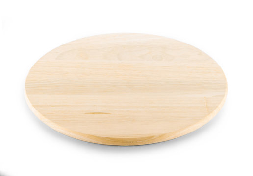 wood plate isolated on white background