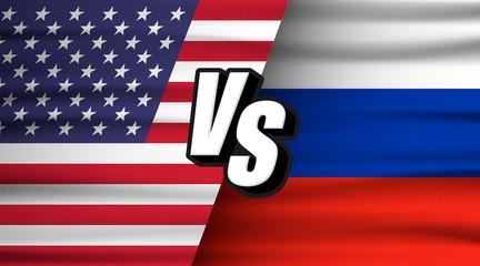 Usa vs Russia. Versus USA VS Russia concept. The concept of relations between States, economic community, politics.
