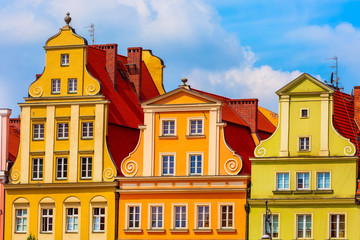 Wall Murals Wroclaw, Poland Old Town Salt Market Square colorful houses
