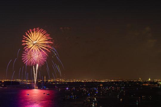 Fireworks Over Alexandria, VA and Washington DC