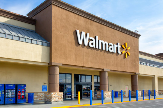 Walmart Store Exterior and Trademark Logo