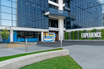 Intel Worldwide Corporate Headquarters and Trademark Logo