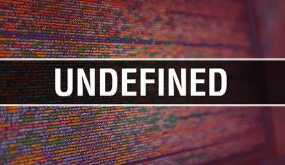 Undefined with Binary code digital technology background. Abstract background with program code and Undefined. Programming and coding technology background. Undefined with Program listing