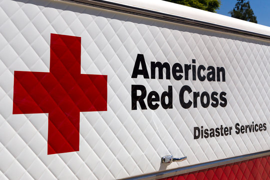 American Red Cross Disaster Services Vehicle and Logo