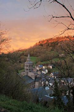 Coucher de Soleil Orcival Puy de Dôme Auvergne France