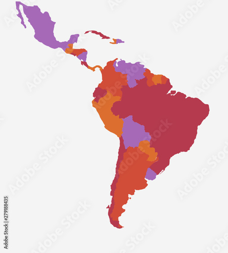 Latin/South America Map - High detailed isolated vector ...
