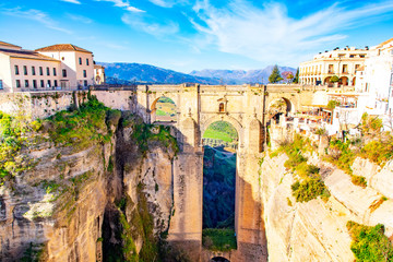 Wall Mural - Ronda Spain Punte Nuevo bridge