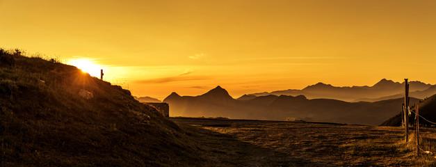 Sonnenaufgang am Col d'Aubisque in den Französischen Pyrenäen