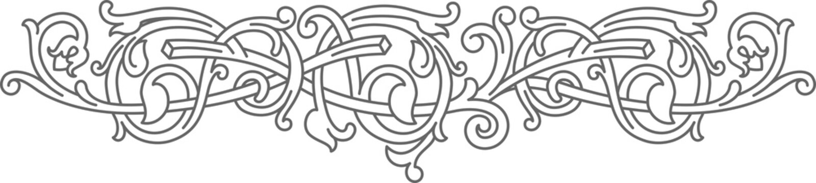 Celtic pattern ornament decoration design element.